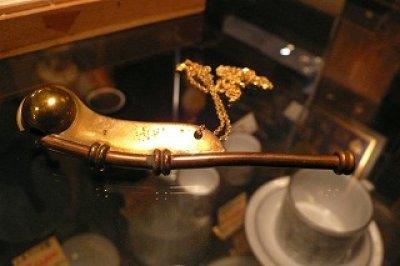 画像1: Boatawain's Pipe真鍮製ボースン・パイプ